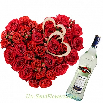 Buy Flower arrangement Milan cheap with delivery to Kiev and Ukraine
