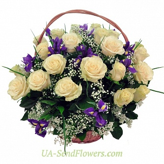 Buy Basket of flowers Delight cheap with delivery to Kiev and Ukraine