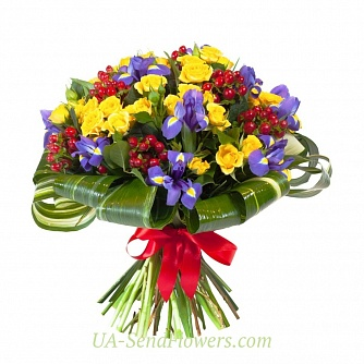 Buy Bouquet of flowers Coloring cheap with delivery to Kiev and Ukraine