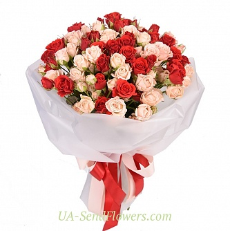 Buy Bouquet of flowers Heart rhythm cheap with delivery to Kiev and Ukraine