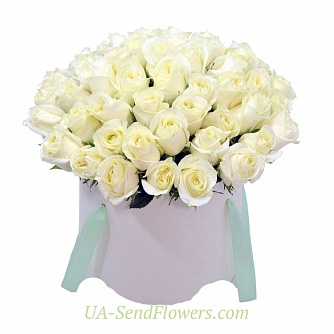 Buy Flowers in box Bride cheap with delivery to Kiev and Ukraine