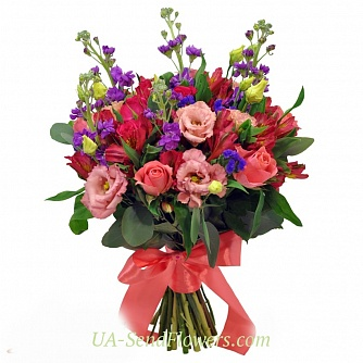 Buy Bouquet of Brilliant flowers cheap with delivery to Kiev and Ukraine