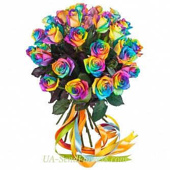 Buy Bouquet of flowers Rainbow cheap with delivery to Kiev and Ukraine