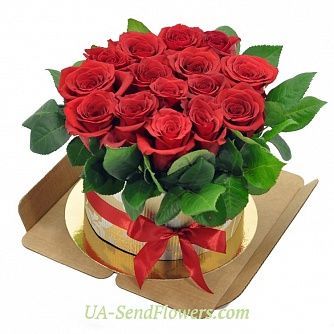 Buy Flowers in a box Sweet smile cheap with delivery to Kiev and Ukraine