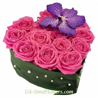 Buy Composition of Eden Flowers cheap with delivery to Kiev and Ukraine