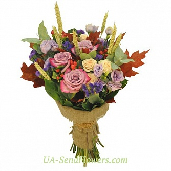 Buy Bouquet Golden autumn cheap with delivery to Kiev and Ukraine