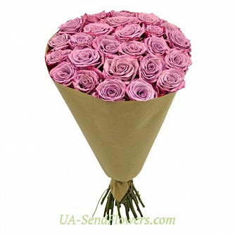 Buy Bouquet of 25 roses cheap with delivery to Kiev and Ukraine
