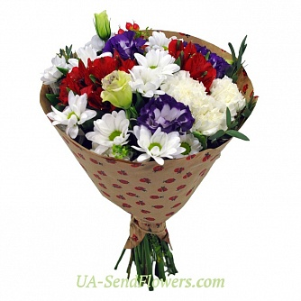 Buy Bouquet of bright dreams cheap with delivery to Kiev and Ukraine