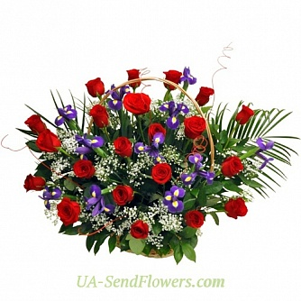 Buy Basket of flowers Wonder of the World cheap with delivery to Kiev and Ukraine