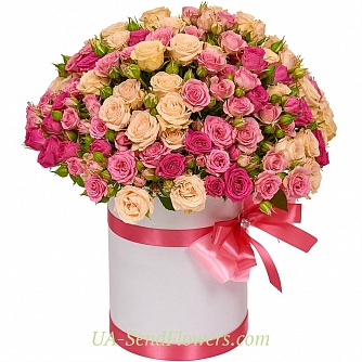 Buy Flowers in box San Remo cheap with delivery to Kiev and Ukraine