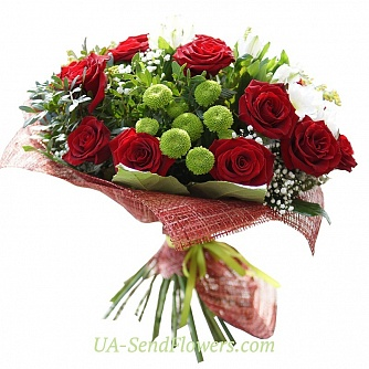 Buy Bouquet flowers Gift cheap with delivery to Kiev and Ukraine