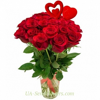 Buy Bouquet Heart secret cheap with delivery to Kiev and Ukraine