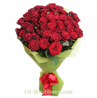 Buy Bouquet of 35 red roses cheap with delivery to Kiev and Ukraine