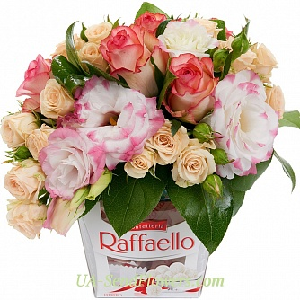 Buy Flowers in a box On the wings of happiness cheap with delivery to Kiev and Ukraine