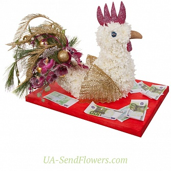 Buy Toy Cockerel from flowers cheap with delivery to Kiev and Ukraine