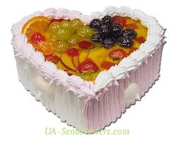 Buy Cake Fruit heart cheap with delivery to Kiev and Ukraine