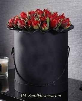 Buy Flowers In box Width cheap with delivery to Kiev and Ukraine
