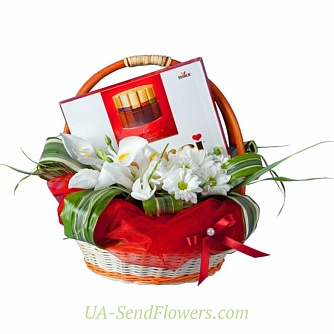 Buy Flowers basket Soulful present cheap with delivery to Kiev and Ukraine