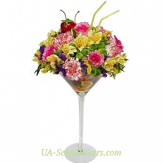 Buy Flower arrangement Summer Cocktail cheap with delivery to Kiev and Ukraine