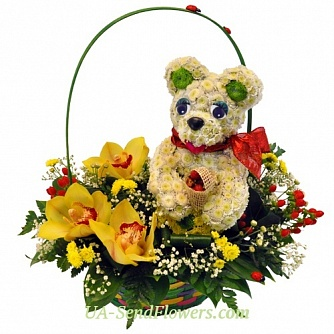 Buy Toy Flower Charming teddy bear cheap with delivery to Kiev and Ukraine