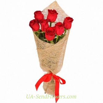 Buy Bouquet rose Flaming cheap with delivery to Kiev and Ukraine