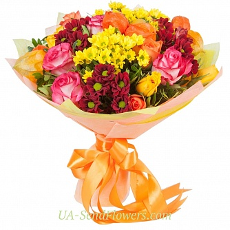 Buy Bouquet Autumn time cheap with delivery to Kiev and Ukraine