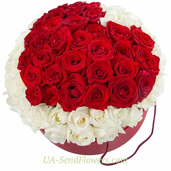 Buy Flowers in a box Volcano of love cheap with delivery to Kiev and Ukraine