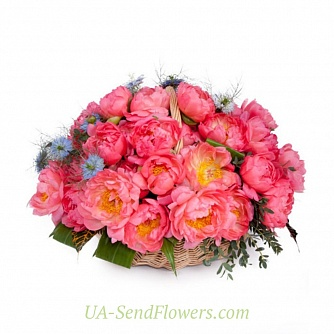 Buy Basket of flowers Silk tenderness cheap with delivery to Kiev and Ukraine