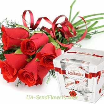 Buy Bouquet of Red roses cheap with delivery to Kiev and Ukraine