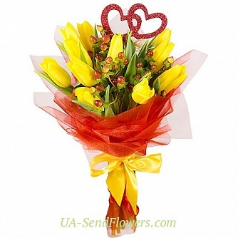 Buy Bouquet of flowers Art of love cheap with delivery to Kiev and Ukraine