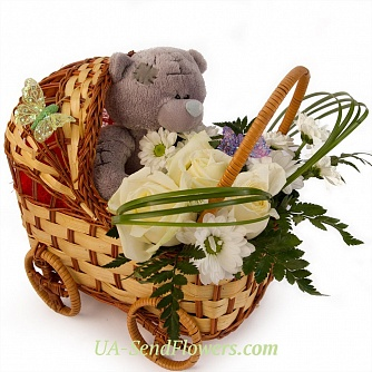 Buy Composition of flowers Thank you for your son cheap with delivery to Kiev and Ukraine