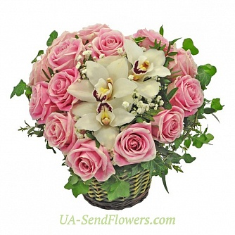 Buy Cart Flamingo flowers cheap with delivery to Kiev and Ukraine