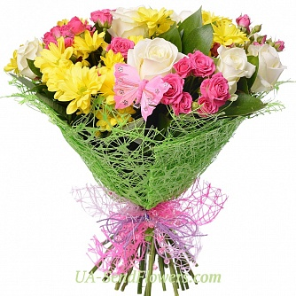 Buy Bouquet Warm ray cheap with delivery to Kiev and Ukraine