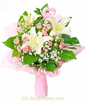 Buy Bouquet Temptress love cheap with delivery to Kiev and Ukraine