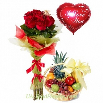 Buy Composition Gift for the beloved cheap with delivery to Kiev and Ukraine