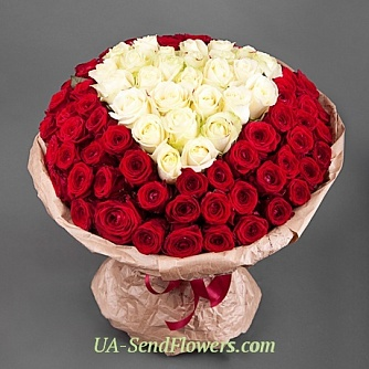 Buy Bouquet Sincerity cheap with delivery to Kiev and Ukraine