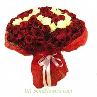 Buy Bouquet Love attraction cheap with delivery to Kiev and Ukraine