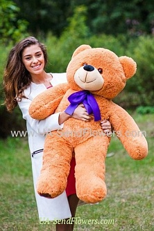 Buy Caramel Bear 110sm cheap with delivery to Kiev and Ukraine