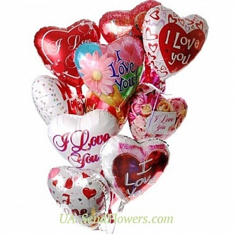 Buy Balloons love love love cheap with delivery to Kiev and Ukraine