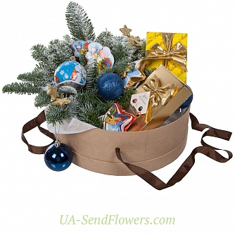 Buy Hat Box Sweet New Year cheap with delivery to Kiev and Ukraine