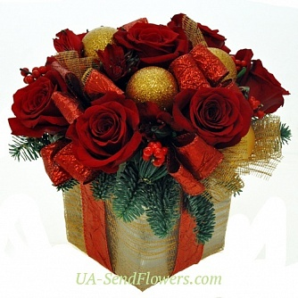 Buy Bouquet Christmas Gift Santa's cheap with delivery to Kiev and Ukraine