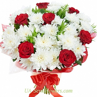 Buy Bouquet Happy day cheap with delivery to Kiev and Ukraine