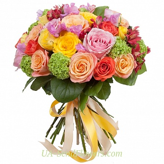 Buy Bouquet Fiesta flowes cheap with delivery to Kiev and Ukraine