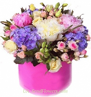 Buy Flowers in a box Kindness cheap with delivery to Kiev and Ukraine
