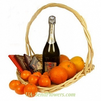 Buy The abundance of fruit basket cheap with delivery to Kiev and Ukraine