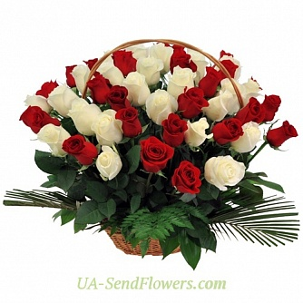 Buy Basket of flowers Symphony cheap with delivery to Kiev and Ukraine