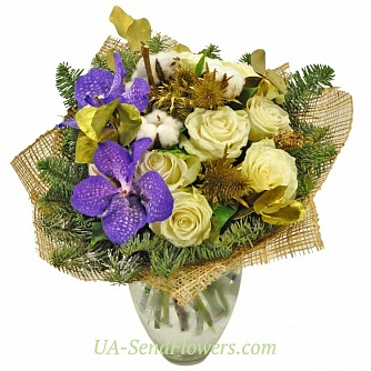 Buy Bouquet Serpentine cheap with delivery to Kiev and Ukraine