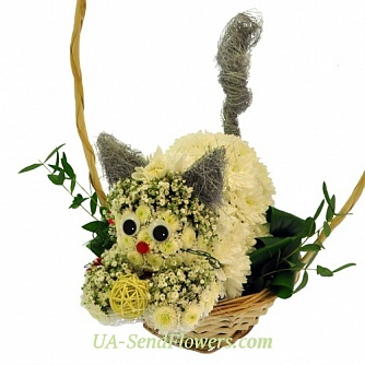 Buy Toy Flower Fluffy tail cheap with delivery to Kiev and Ukraine