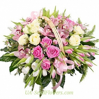 Buy Basket of flowers Cherished wish cheap with delivery to Kiev and Ukraine