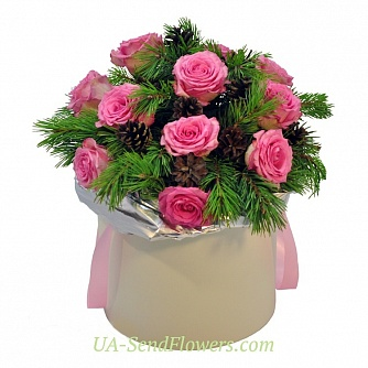 Buy Flowers in a box Fairy tale forest cheap with delivery to Kiev and Ukraine